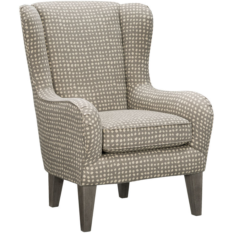 Lorette Gray Wing Back Chair