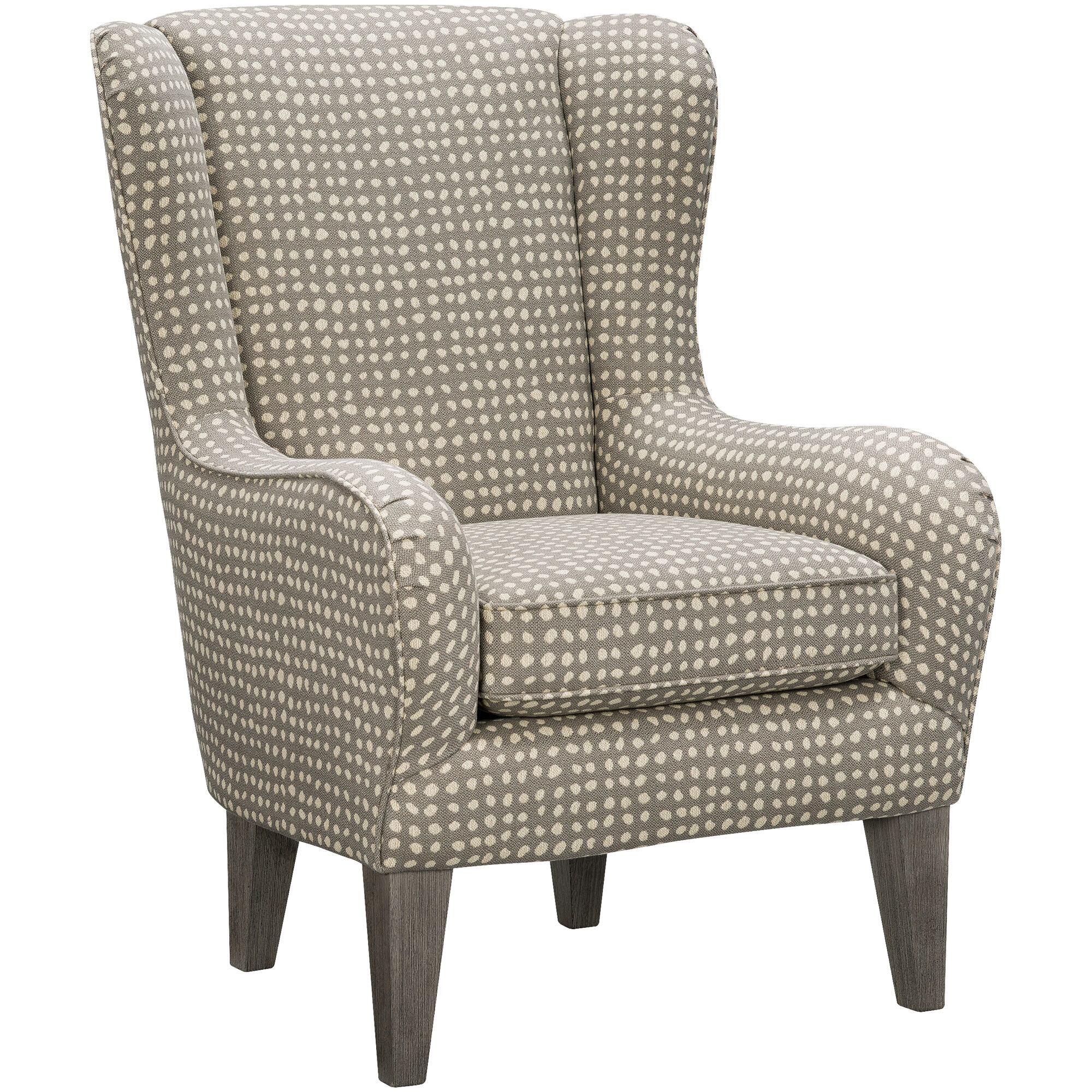 ... Lorette Gray Wing Back Chair ...