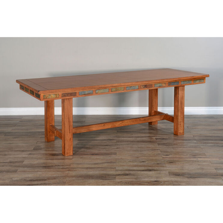 Sedona Rustic Oak Friendship Table