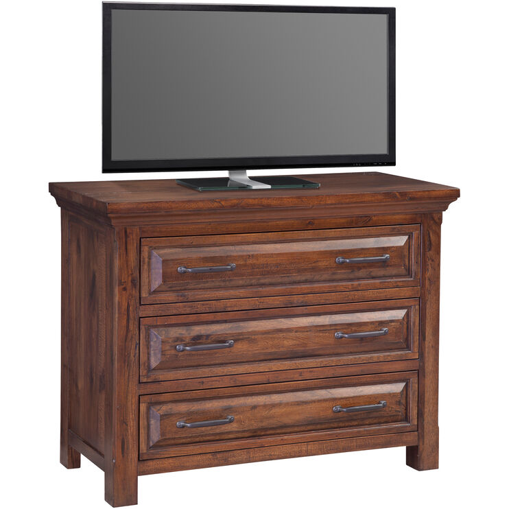 Hill Crest Dark Chestnut Media Chest