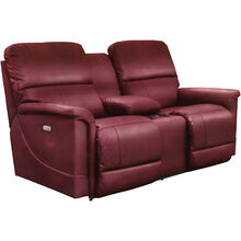 Oscar Crimson Power Reclining Console Loveseat