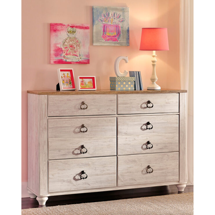 Willowton 54 inch Whitewash Dresser