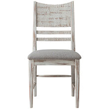 Modern Rustic Weathered White Side Chair