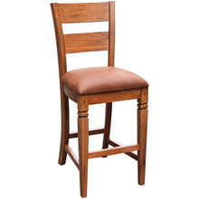 Sedona Rustic Oak 30 Inch Ladderback Bar Stool