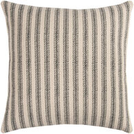 Sentiment Black and White Striped Down Pillow