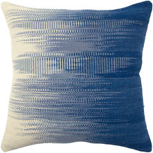 Aztec Blue and White Fade Down Pillow