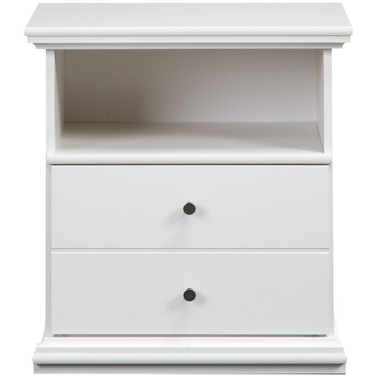 Bostwick Shoals White Nightstand