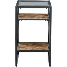 Galaway Asymmetric Chairside Table