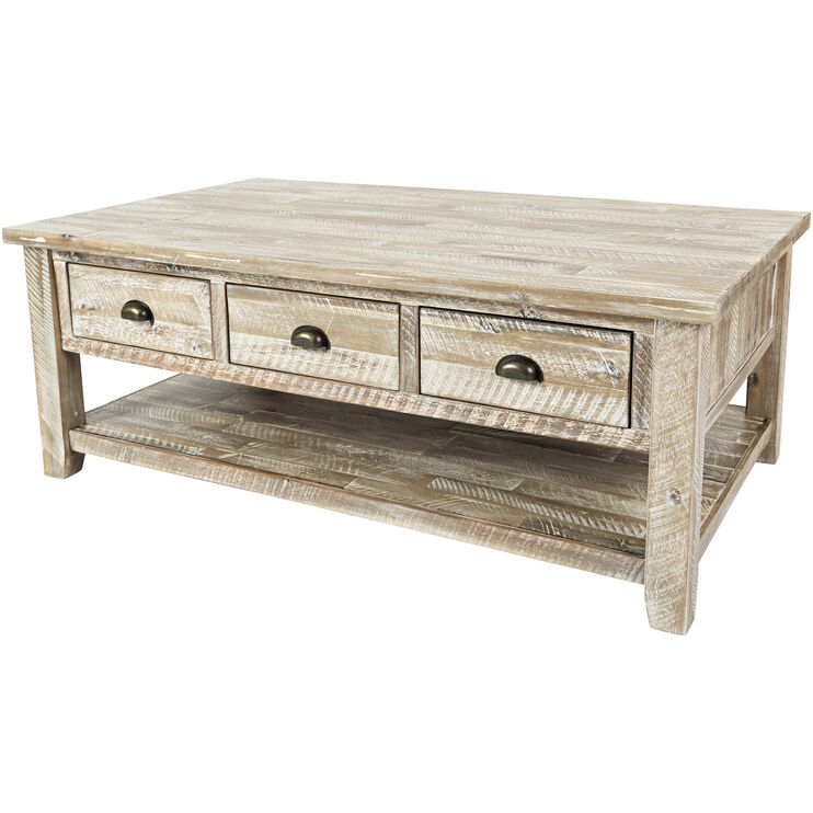 Artisans Craft Gray Wash Cocktail Table
