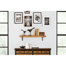 Vintage Honey 36 Inch Wall Shelf