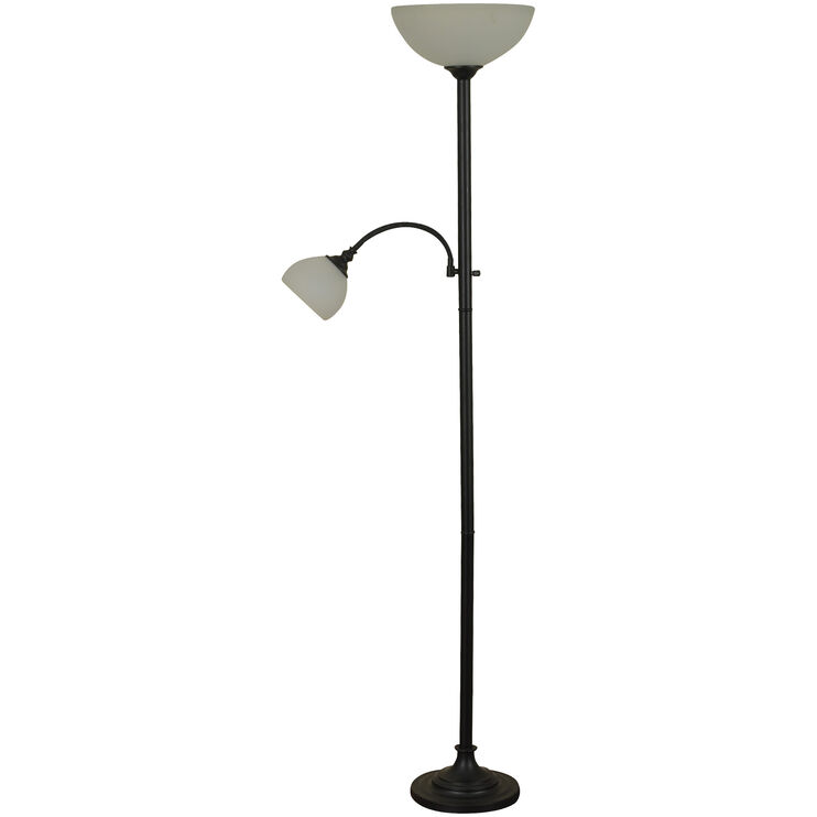 Lira Bronze Dual Floor Lamp