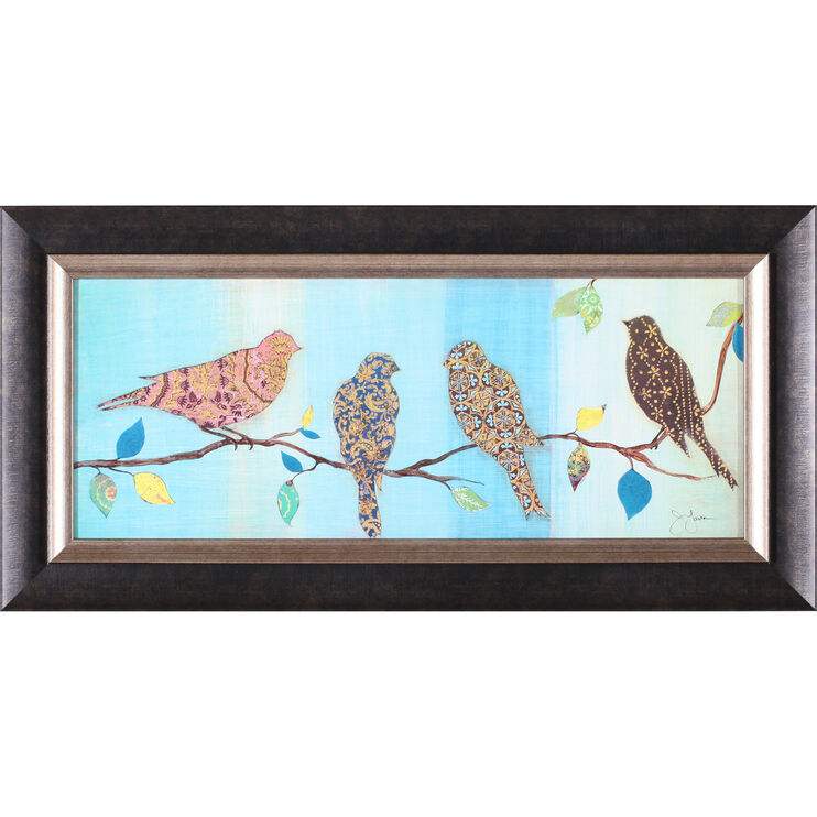 Bird Chat II Framed Art