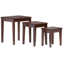 Mosaic Baroqu Brown Nesting Table Set