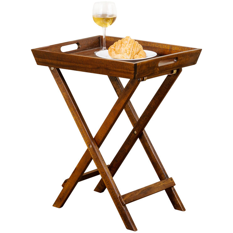 Urban Lodge Brown Folding Accent Tray