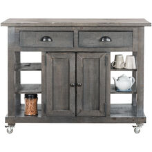 Willow Distressed Gray Door Drawer Island