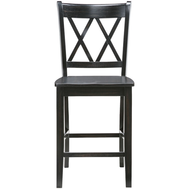 Platinum 24 Inch Black X Back Counter Stool