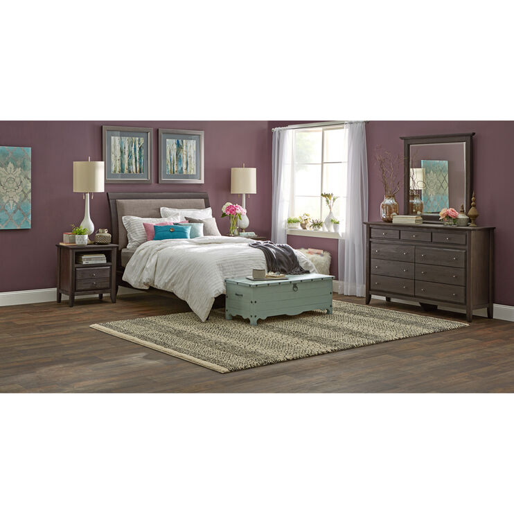 City II Gray Queen Bed