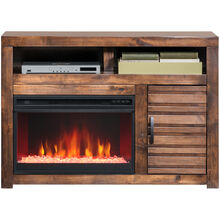 Sausalito Brown 47 Inch Fireplace Console