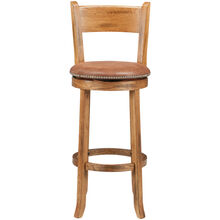 "Sante Fe Rustic Oak 30"" Swivel Stool"
