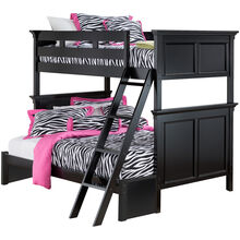 Persia Black Twin/Full Bunk Bed