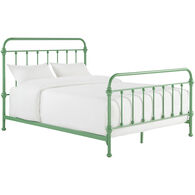 Laguna Green Queen Metal Bed
