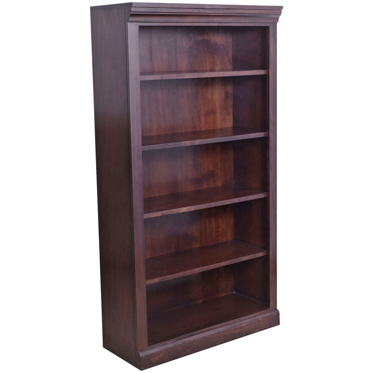 Classic 60 Inch Brown Bookcase
