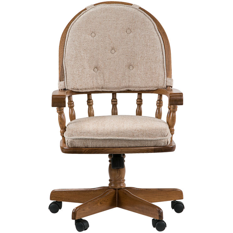 Jefferson Oak Curved Arm Game Chair