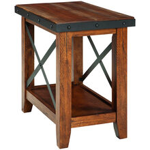 Taos Canyon Brown Chairside Table
