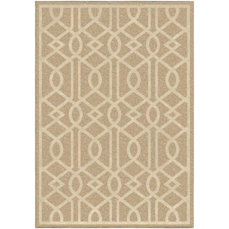 Four Seasons Barcelona Driftwood Cream Trellis 8 x 11 Rug