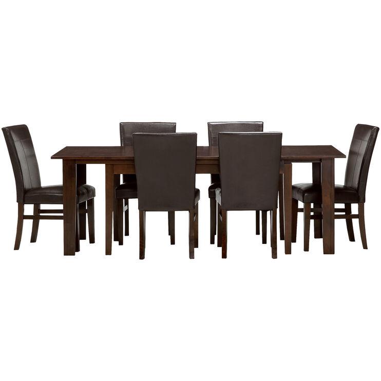 Kona Raisin 7 Piece Parsons Dining Set