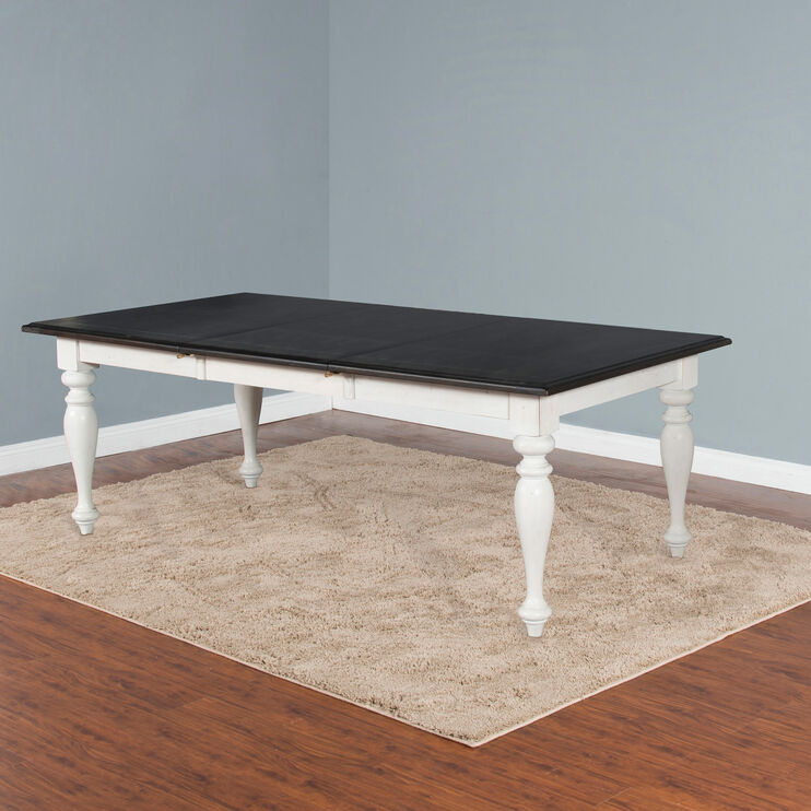 Carriage House White and Black Dining Table
