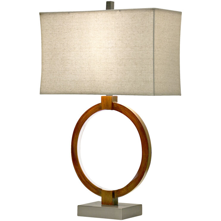 Wellwood Wood Tone Table Lamp