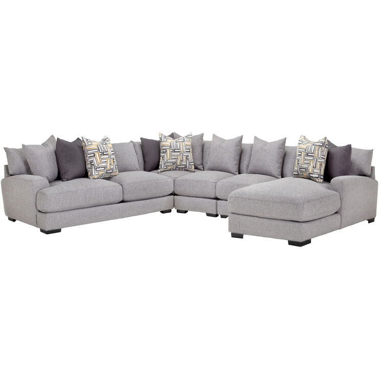 Wake Ash 5 Piece Right Chaise Sect