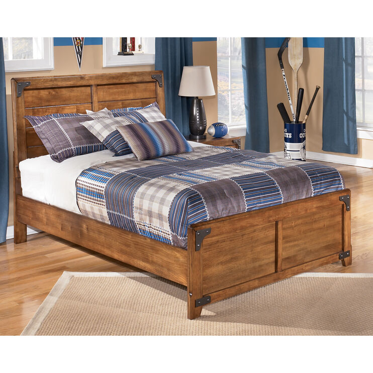 Delburne Brown Full Panel Bed