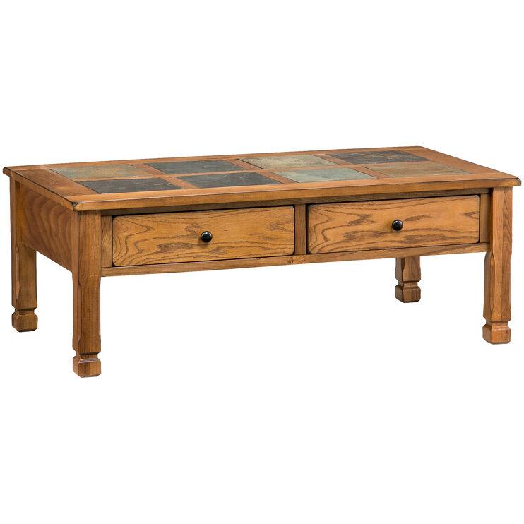 Rustic Ridge Oak Rectangular Coffee Table