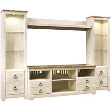Willowton White 4 Piece Entertainment Center