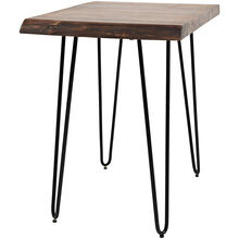 Nature's Edge Brown Live Edge Accent Table