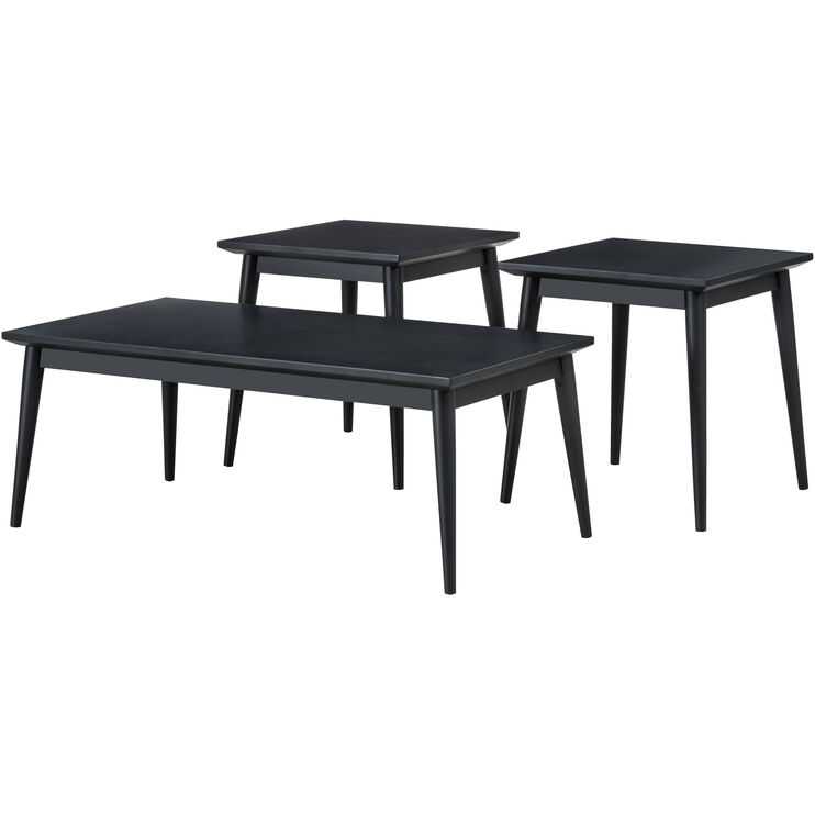 Adler Charcoal Set of 3 Tables