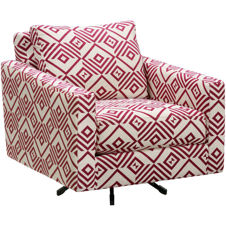 Alto Plum Accent Swivel Chair