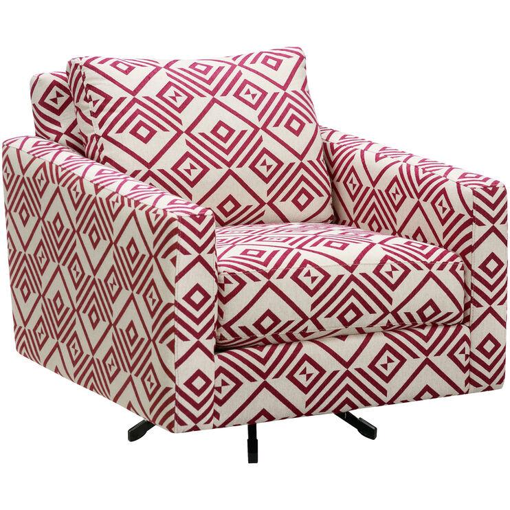 Slumberland Furniture | Alto Plum Accent Swivel Chair