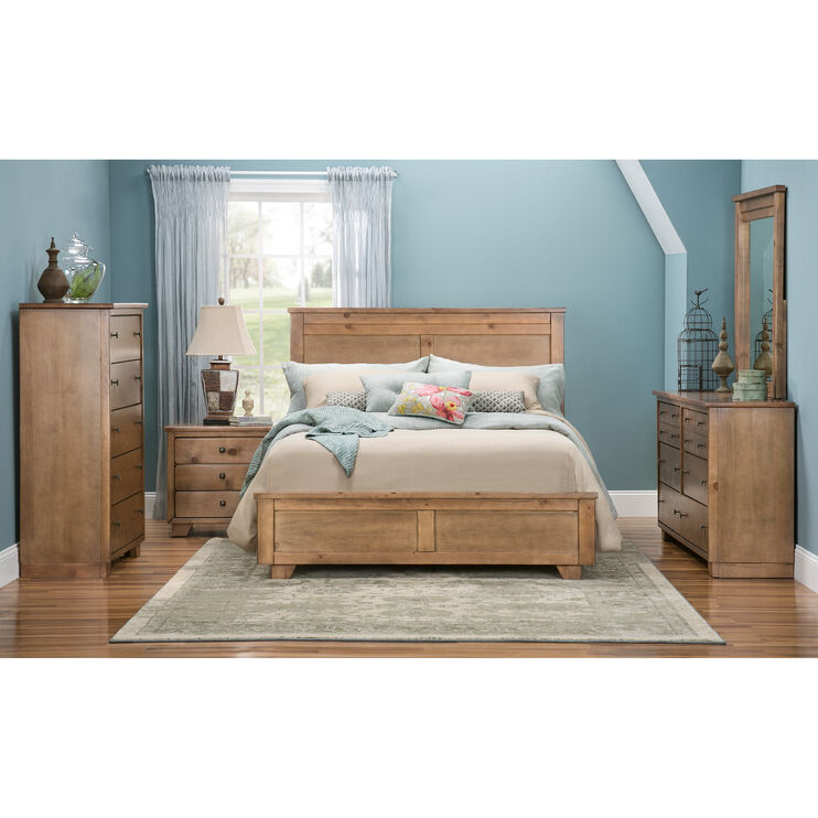 Diego Dune Qn Bed w/Metal Rails