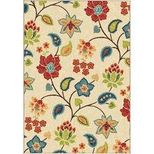 Veranda Full Bloom Ivory 8 x 11 Rug