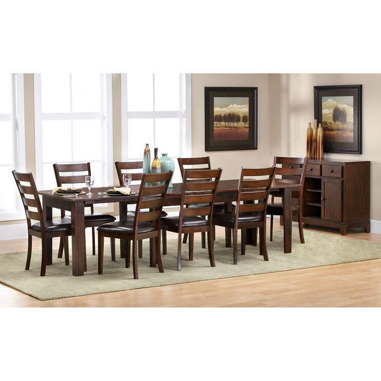Kona 9 Pc Ladder Back Dining Set