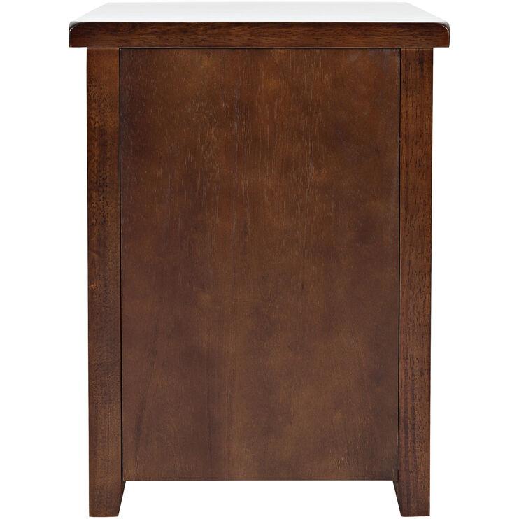 Phalen Arabica Dark Brown Chairside Table