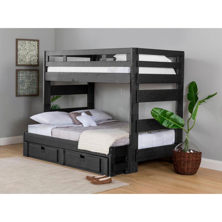 Vista Charcoal Gray 2 Drawer Storage Pedestal