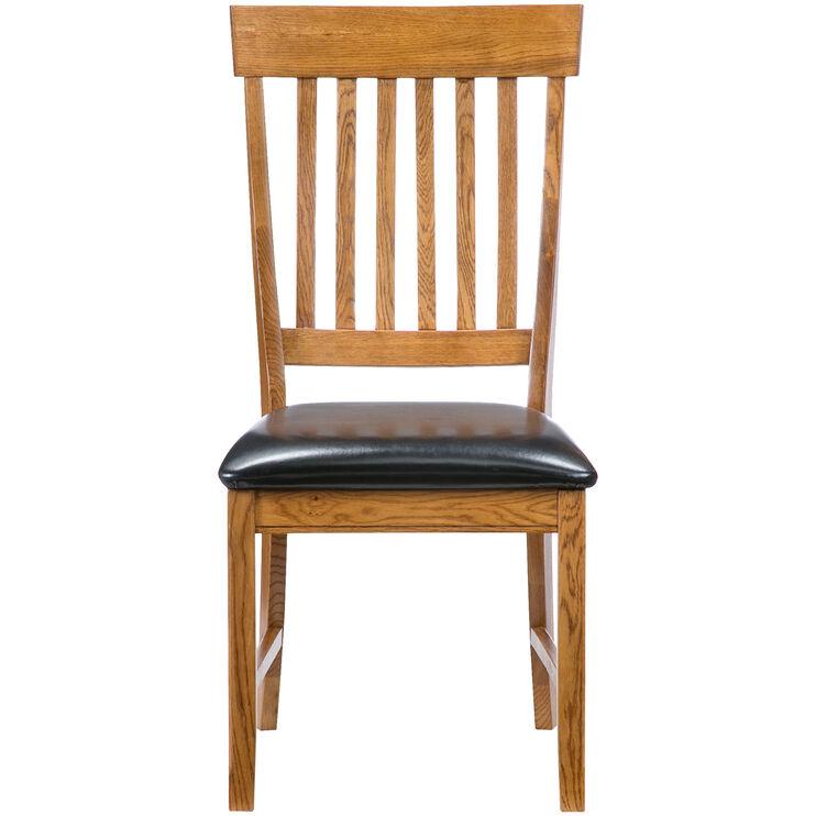 Jefferson Oak Slat Back Side Chair