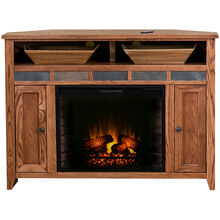 "Evanston 56"" Corner Fireplace Console"