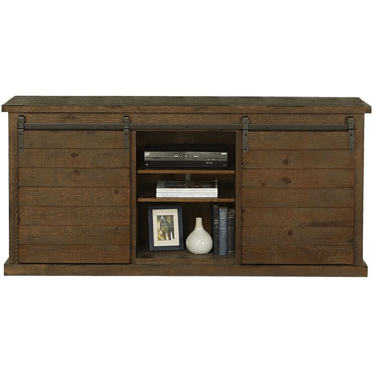 Keller Pine Barn Door Console