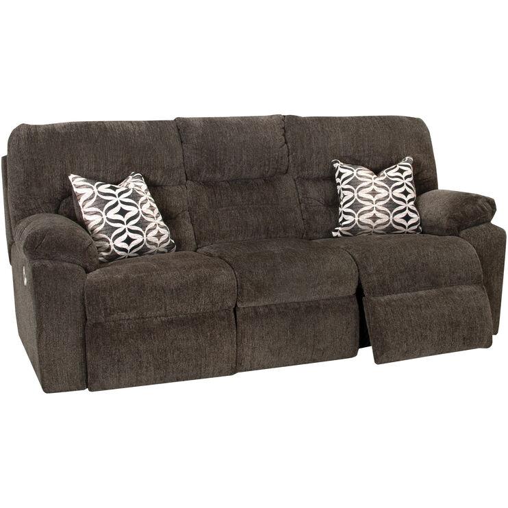 Nome Gray Reclining Sofa