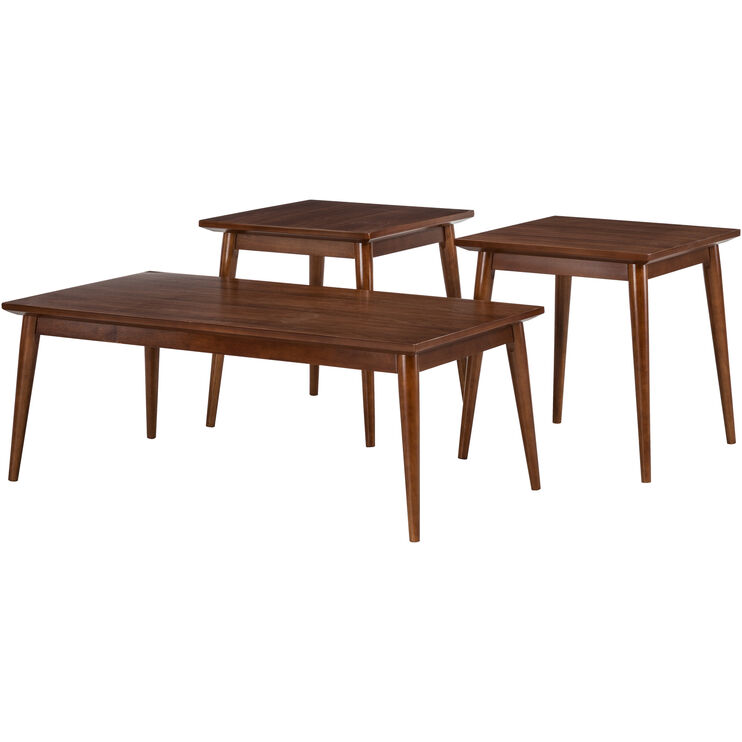 Adler Walnut Set of 3 Tables